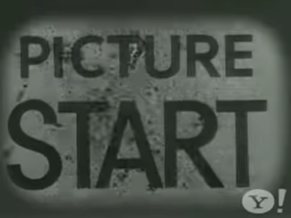 "black and white image of a super 8mm film reading ""PICTURE START"""