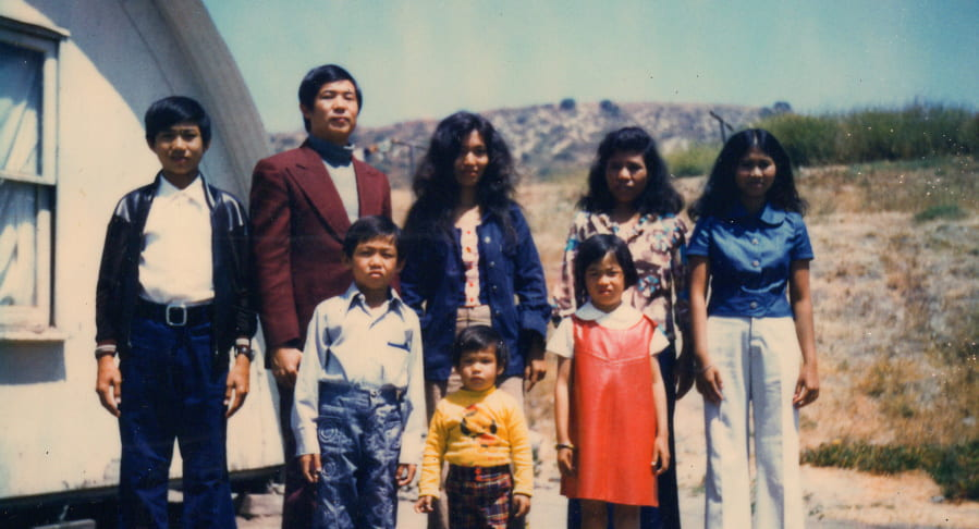 Ted Ngoy with his wife and children in the 1970s