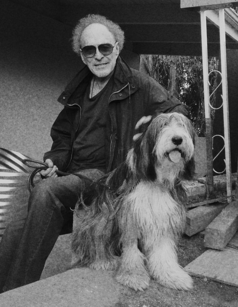 Monte Hellman with dog