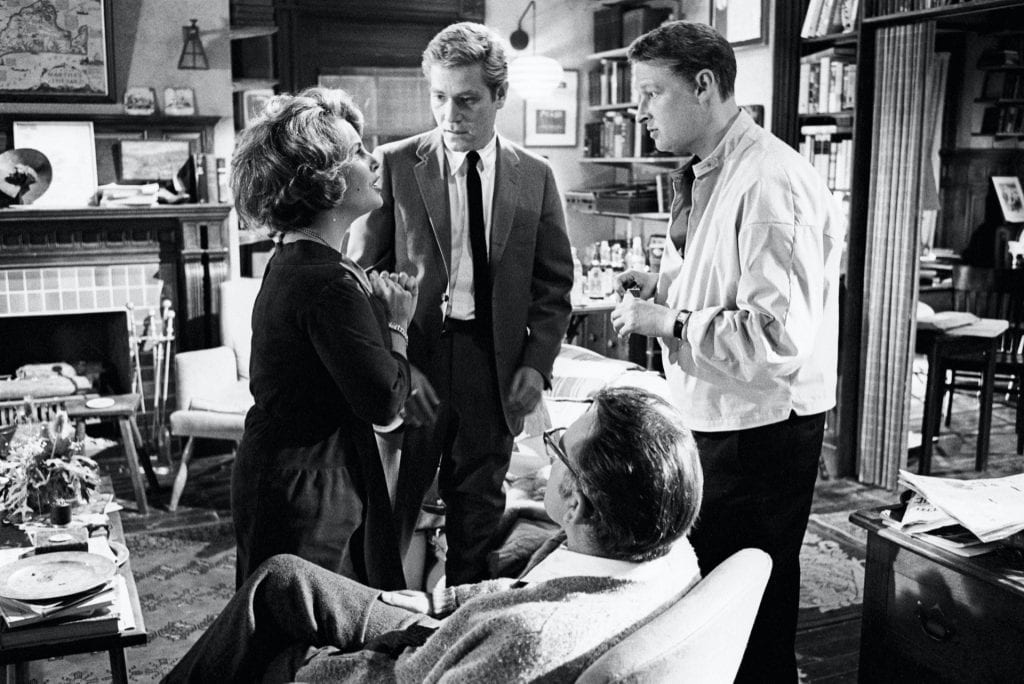Mike Nichols on the set of Who's Afraid of Virginia Woolf? (1966)