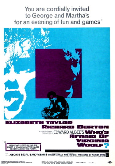 Original poster for Who's Afraid of Virginia Woolf? (1966)