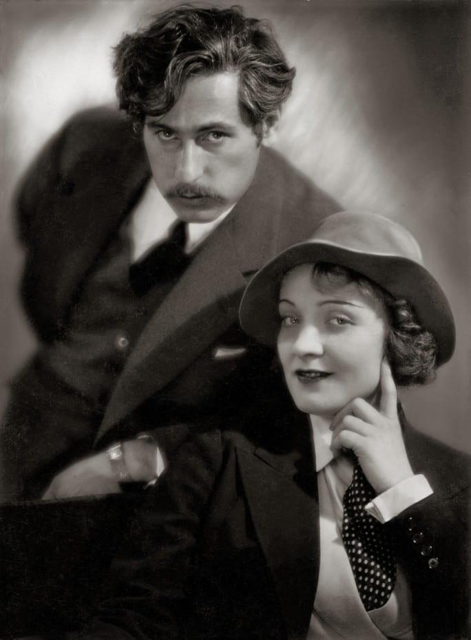 Josef von Sternberg (left) and Marlene Dietrich (right)