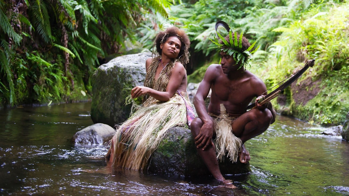 Still of the two lovers at the center of TANNA