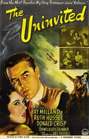 The poster of The Uninvited makes explicit reference to Hitchcock's Rebecca (1940).