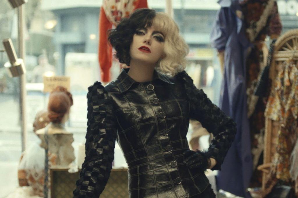 Emma Stone as the titular character in Cruella (2021)