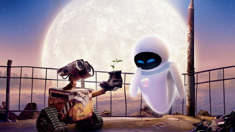 WALL-E and EVE in Disney/Pixar's WALL-E