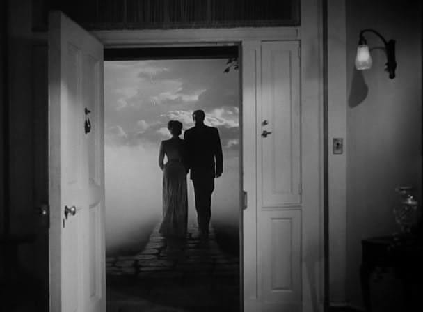 Gene Tierney and Rex Harrison at the end of The Ghost and Mrs. Muir