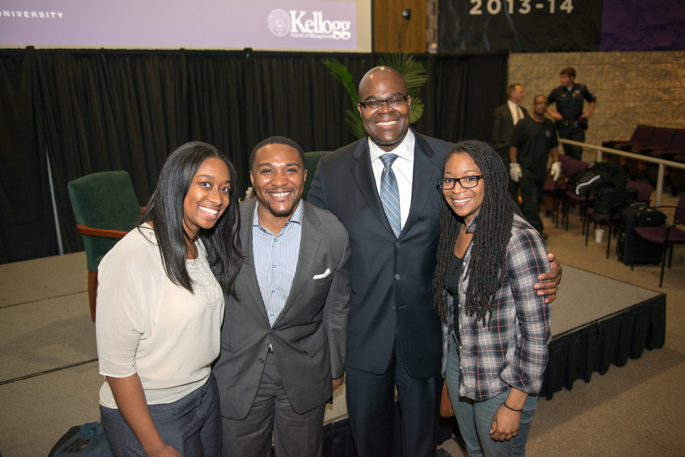 Don Thompson, McDonald's President and CEO, visits Kellogg