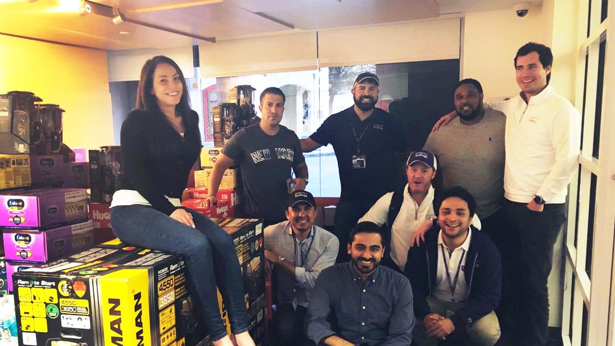 Kellogg EMBA students collect goods for Hurricane Dorian survivors