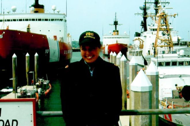 Anna Moorman, a Kellogg MBA student and member of the U.S. Coast Guard