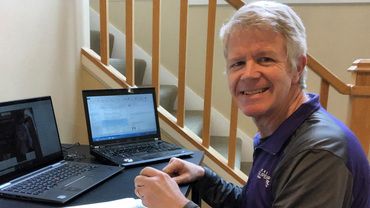 Kellogg Professor Tim Calkins is hard preparing to transition to online learning during COVID-19.