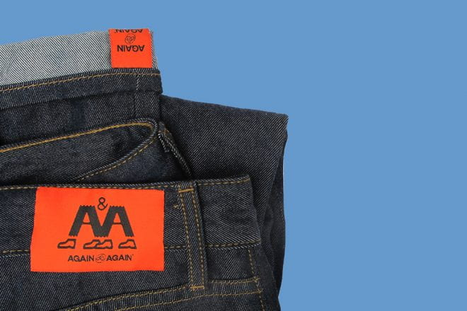 Marcus Schneider (2Y 2020, Zell Fellow) and Professor Paul Earle launched again&again, a circular fashion brand making jeans designed to never be thrown out.