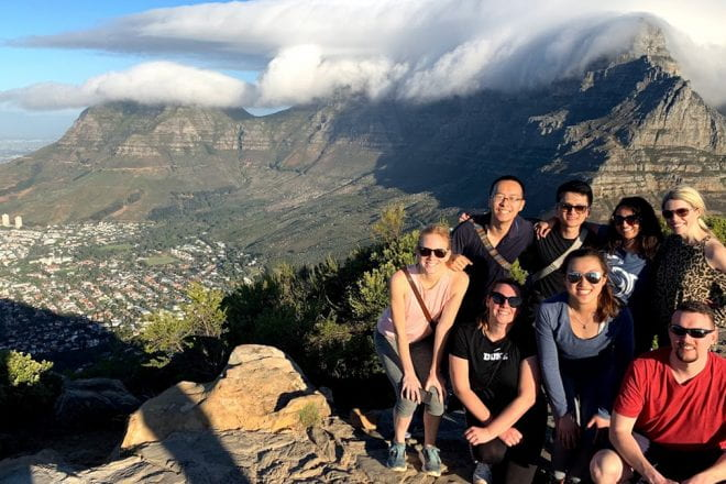 Kellogg students on the GIM social impact trip to South Africa.