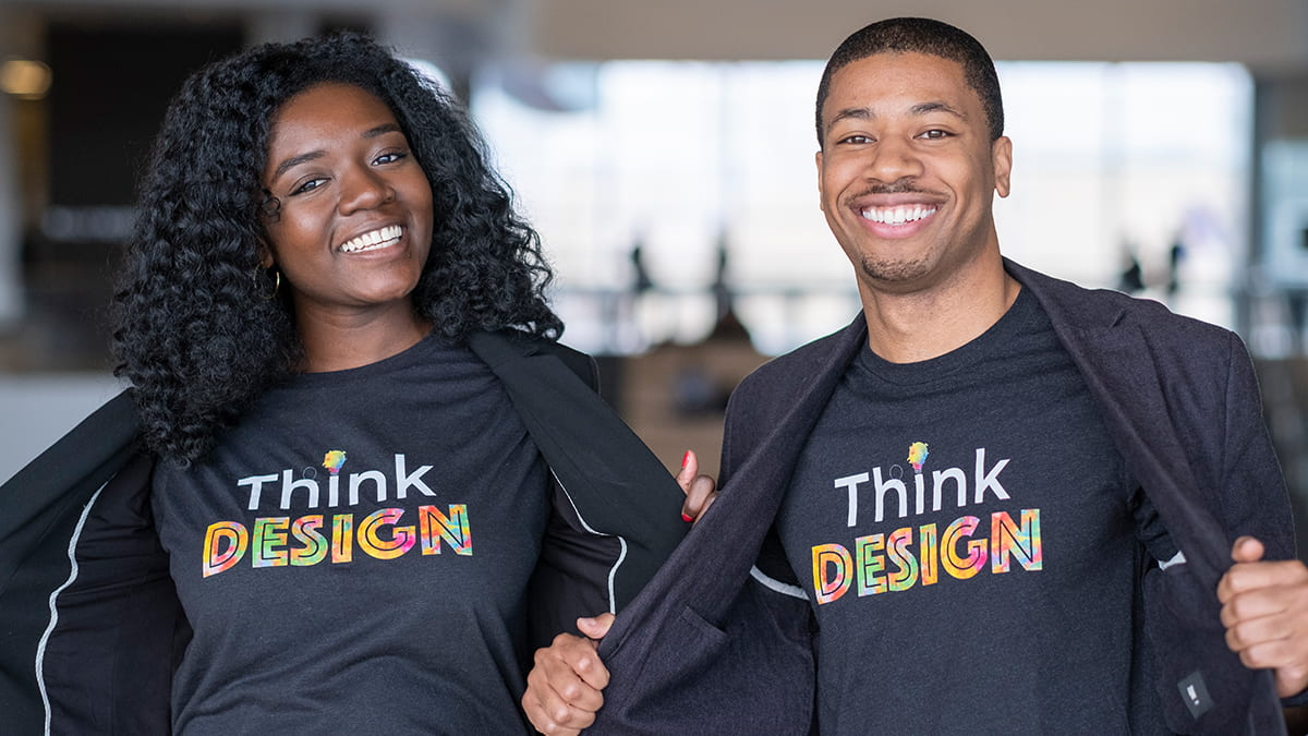Marvin Harris, Jr. (2Y 2021) and Hannah Anokye (MMM 2021), co-presidents of Innovation and Design Association, share how design can challenge anti-Black racism.
