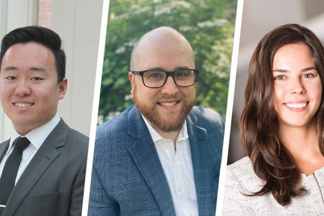 Meet the talented and diverse new class joining Kellogg's Evening & Weekend Program, including Tony Zhu, Colby Pendley, and Monica Martens (E&W 2022).