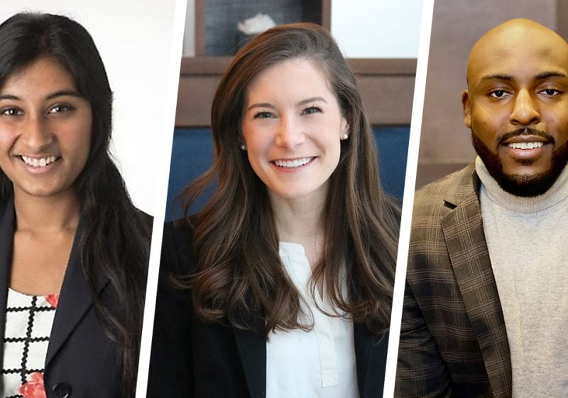 Talent abounds in the new class joining Kellogg's Evening & Weekend Program. Meet Janani Krishnan, Hanna Cosgrove and Devin Tyler.