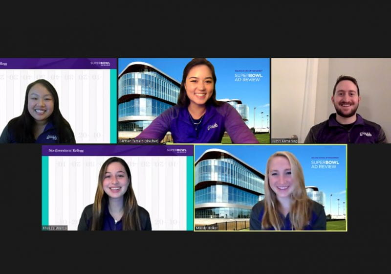 Michelle Hu and Carmen Ferraro (both 2Y 2021) share their perspective on this year's Super Bowl ads and pivoting to an all-virtual Kellogg Super Bowl Ad Review.