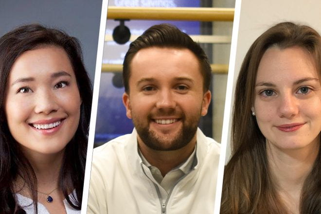 Talent abounds in the new class joining Kellogg's Evening & Weekend Program. Meet Auna Harvey, Andrew Henry and Emily Wessling, M.D.(all E&W 2023).