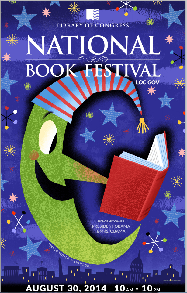 National Book Festival, August 30 from 10am to 10pm