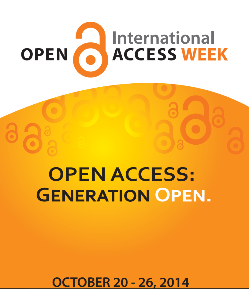 Open Access Week, Oct. 20 – 26, 2014