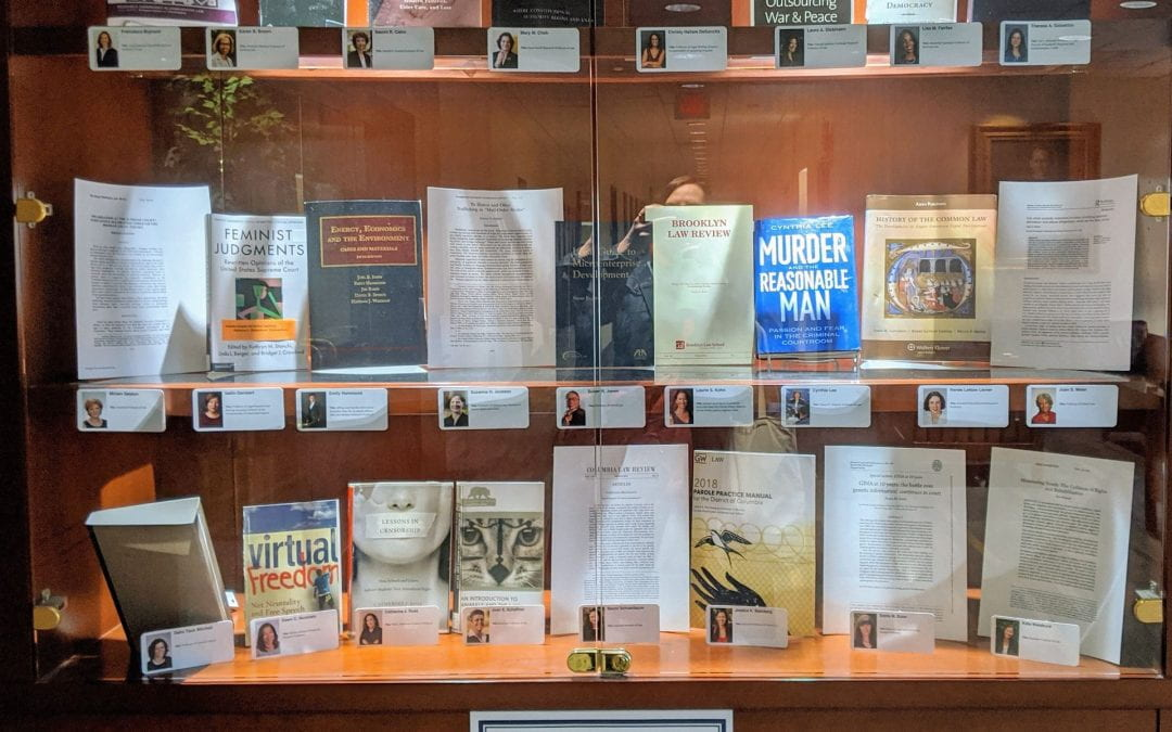A display of scholarship by GW Law Women Faculty in honor of Women's History Month, March, 2020