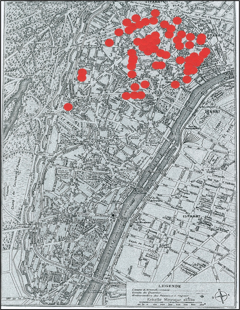 Apartments of Mondains in 1900
