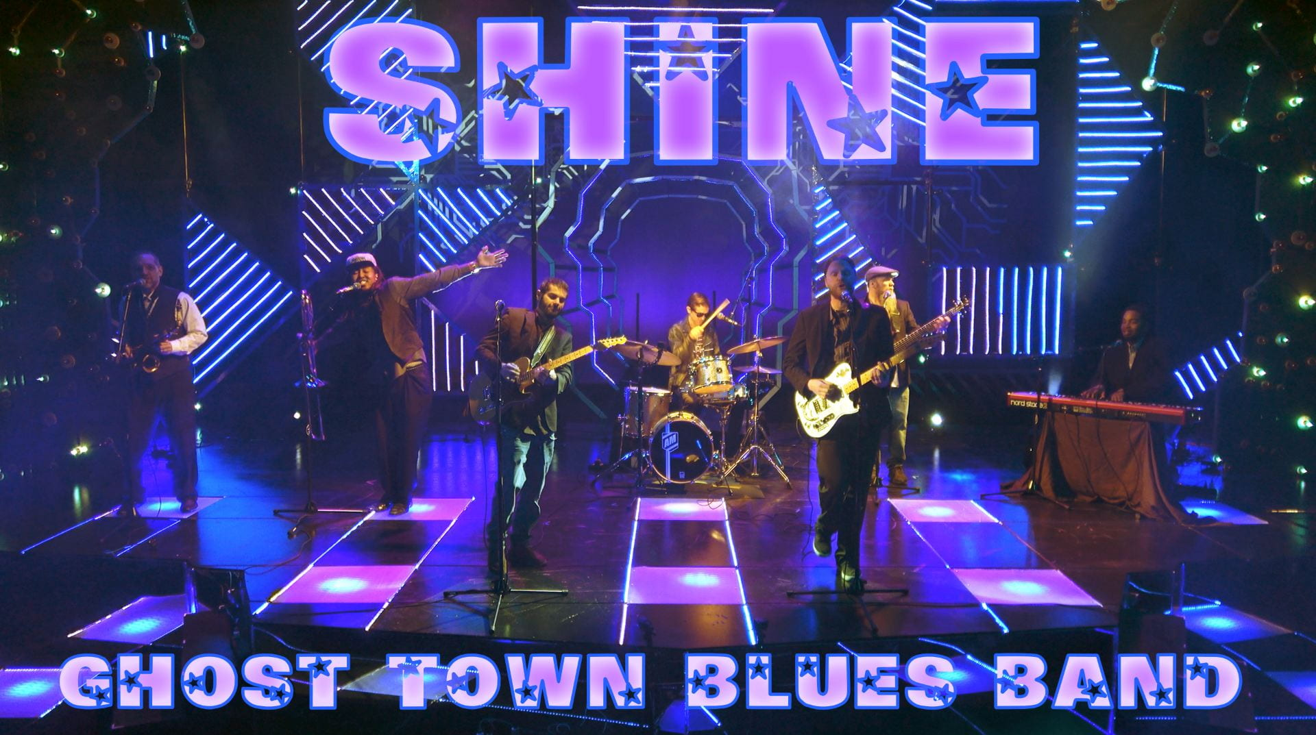 "Ghost Town Blues Band's latest music video, ""Shine,"" repurposes the set and lighting from the spring 2019 UofM production of ""Be More Chill."""