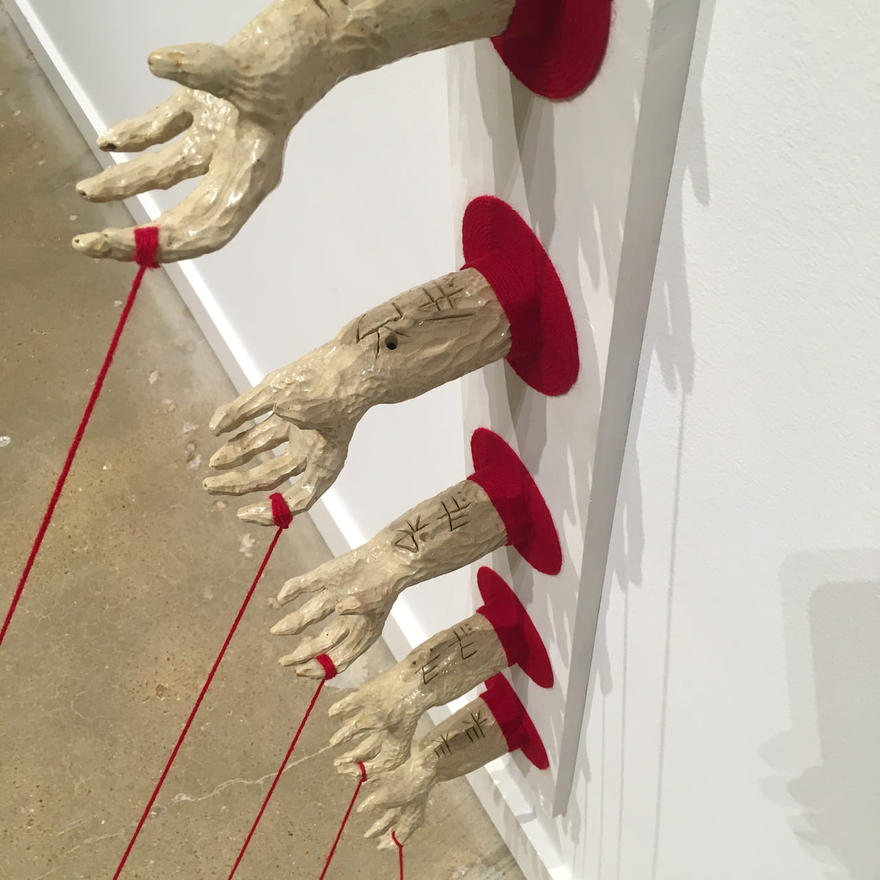 """Bloodline"" by Jessica Williams. Multi-Media Ceramic Sculpture, (82 x 5.5 x 65)"