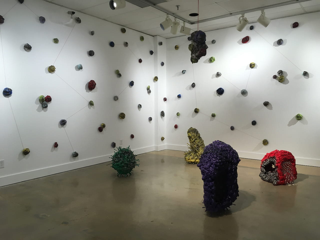 """""""It""""s All Good, No Worries,"""" by Nicholas Svoboda. Mixed media, size based on installation"""