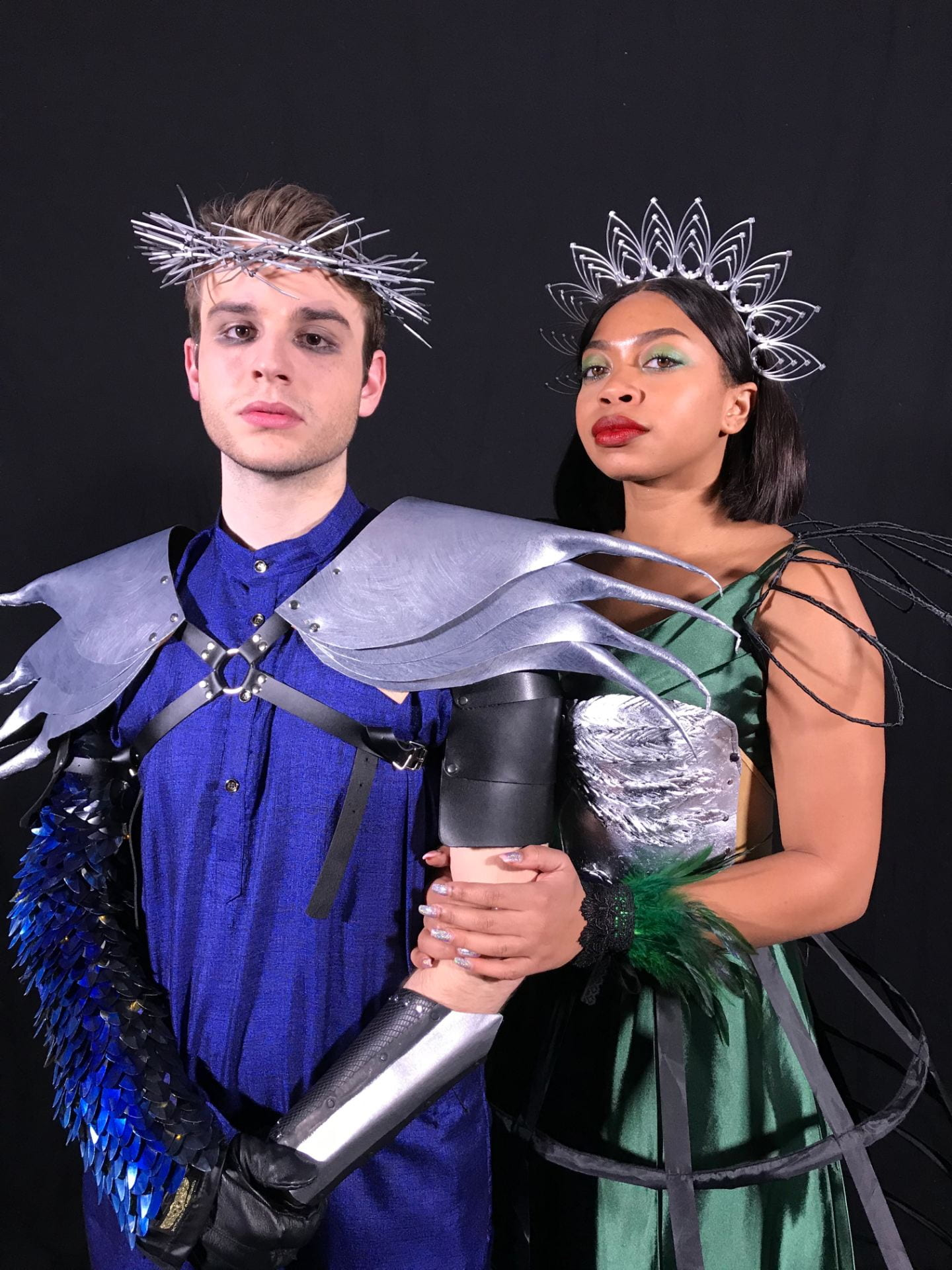 Toby Davis and Eboni Cain portray Claudius and Gertrude in Hamlet: Fall of the Sparrow.