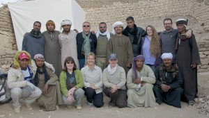 2013 field season in front of TT16 in Luxor Egypt