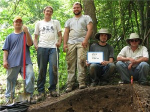 Test excavations on Mound B in 2008.