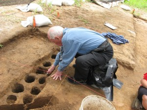 2011_2 Charles McNutt excavating a portion of a wall trench.