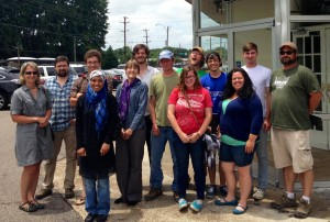 """The 2013 field crew after the """"last lunch"""" at Las Delicias in Memphis."""