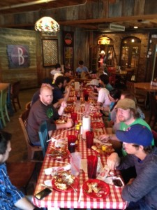 Over-priced lunch at Casey Jones after visiting Pinson