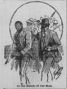representation of the lynching found in the Appeal-Avalanche 10 March 1892.