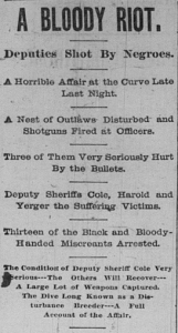 Excerpt from The Memphis Appeal following the attack on the People's Grocery 9 March 1892