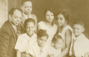 Hooks Family, ca. 1930. Benjamin Hooks, bottom row, center.
