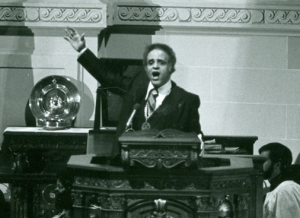 Benjamin L. Hooks Speaks from a Pulpit.