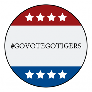 #GoVoteGoTigers Pin
