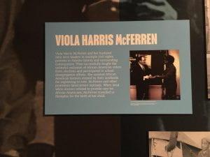 Viola McFerren Exhibit
