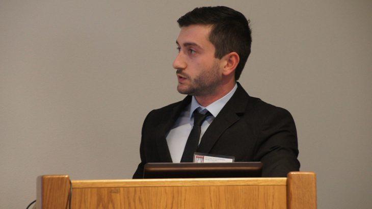 Adonis Ichim presenting