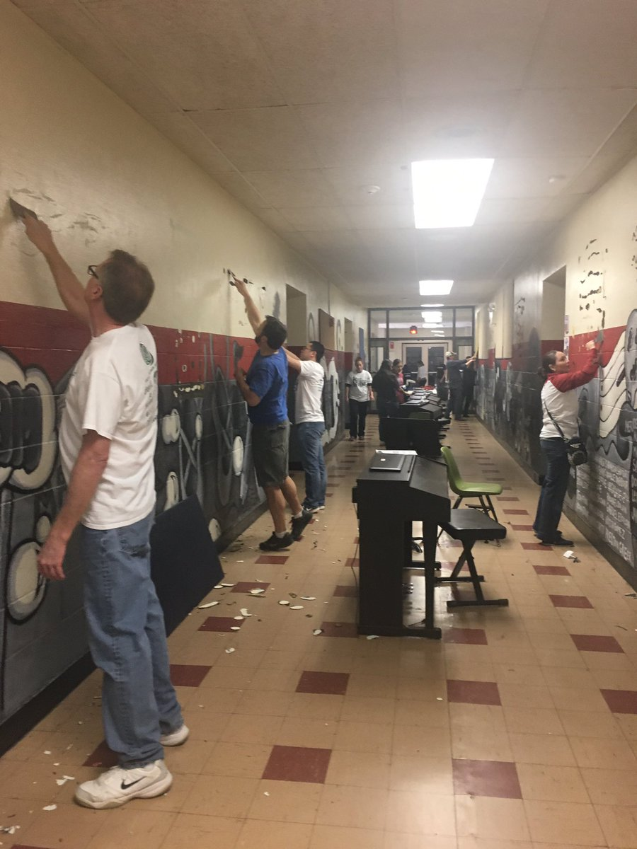 About 40 OU SPE Members Worked On Similar Projects In Norman While Helping The Little Blessings Early Childhood Center Pack Up Their Belongings And Move