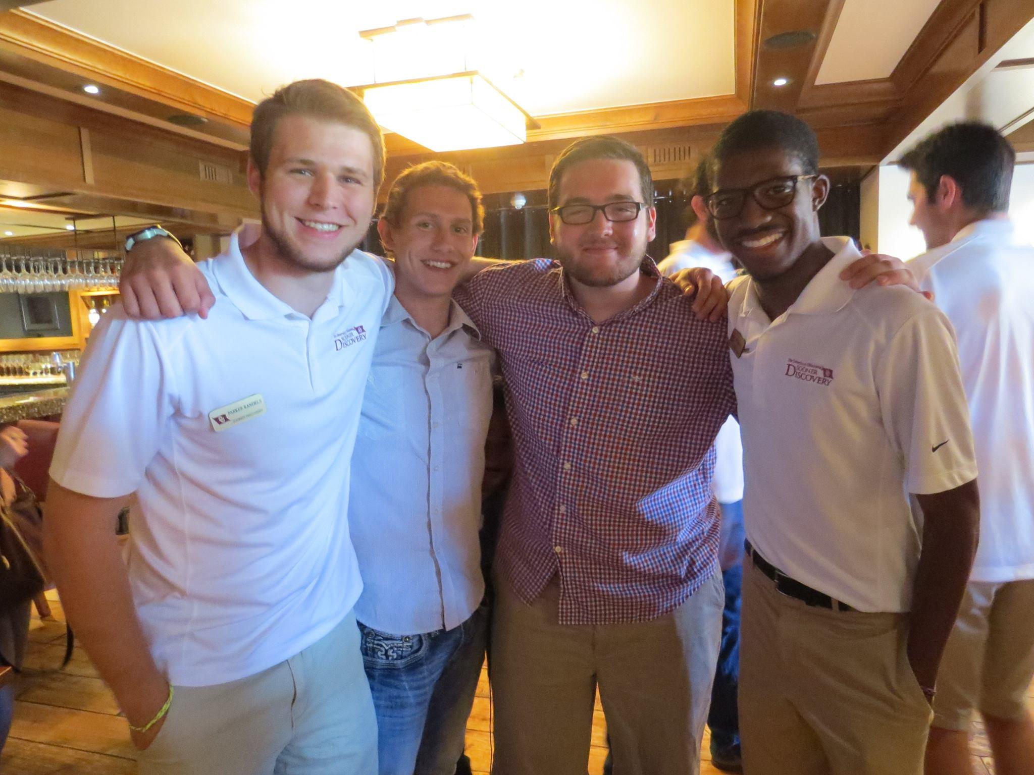 Parker, Kaden, Rhett, and JD enjoying the end of program banquet