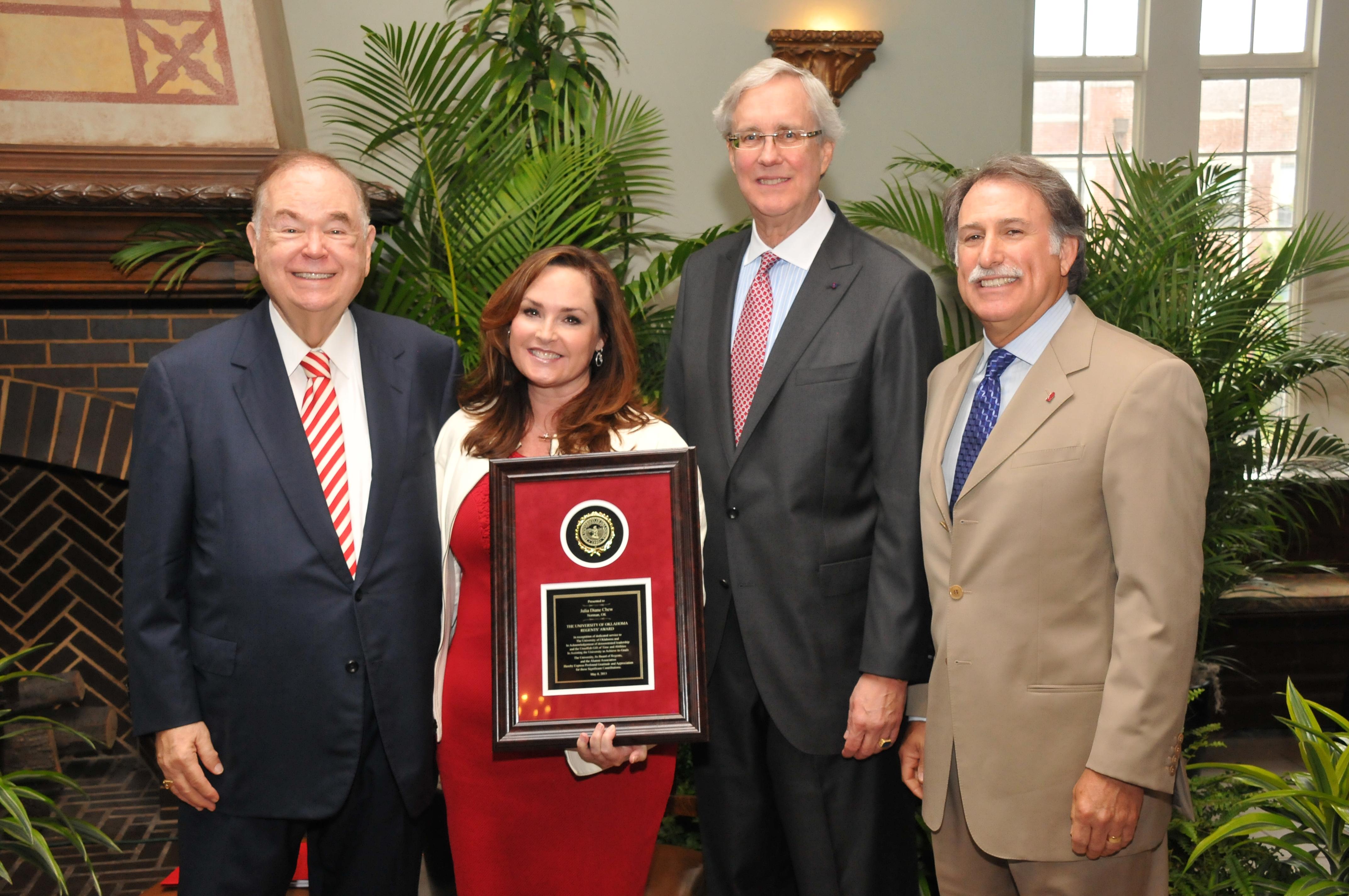 Julia Chew Named 2015 Regents Alumni Award Recipient