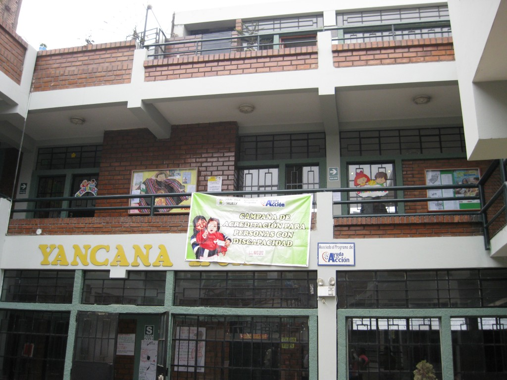 We went to Yancana Huasy, a school built by a priest in the 1980s for disabled children with services at a low cost.