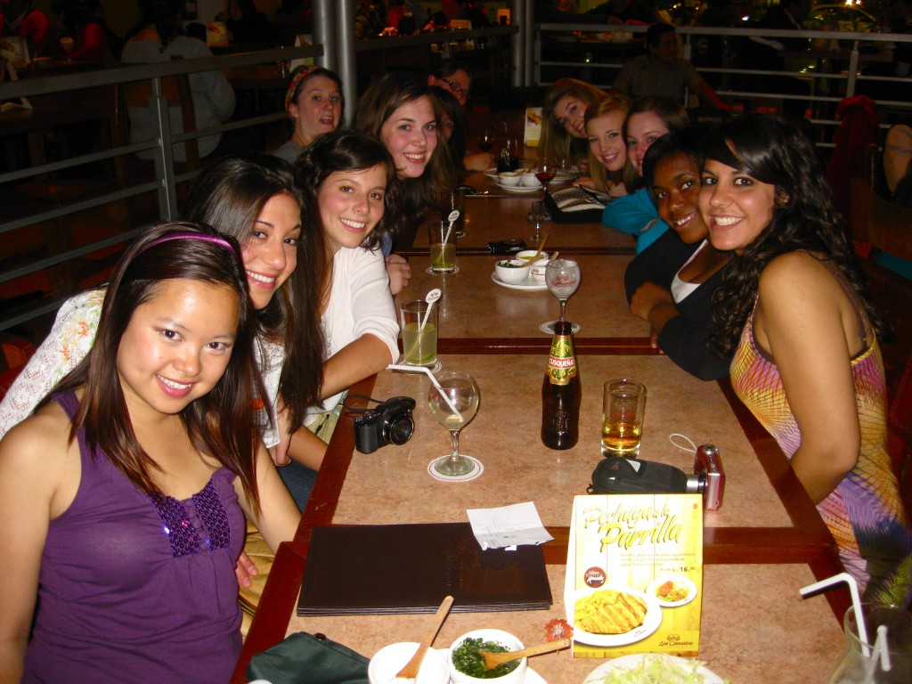 All the girls went to a Peruvian restaurant with our new friend and PUCP alum, Luis—what a lucky feller.