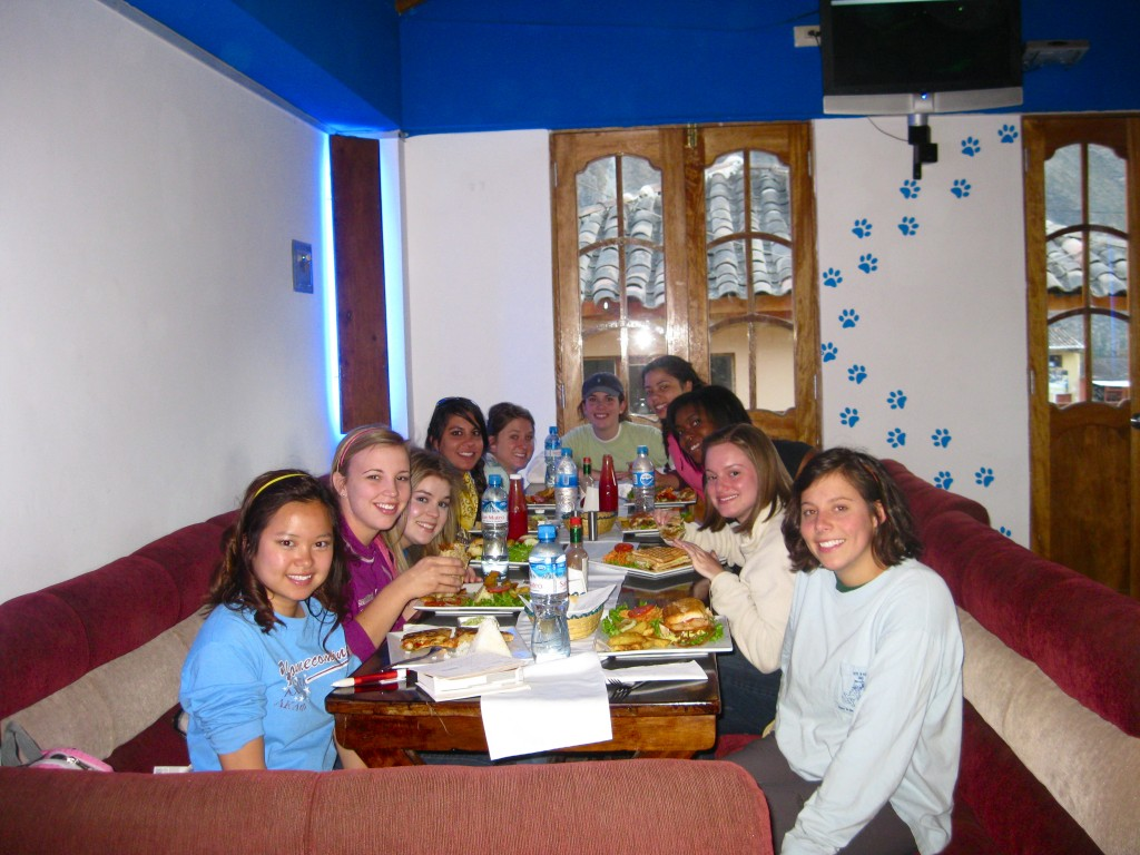 We returned to Ollantaytambo town. Most of us ate at a restaurant called Blue Puppy. I had shrimp quesadilla, one of the few Mexican food options I have seen here in Peru.
