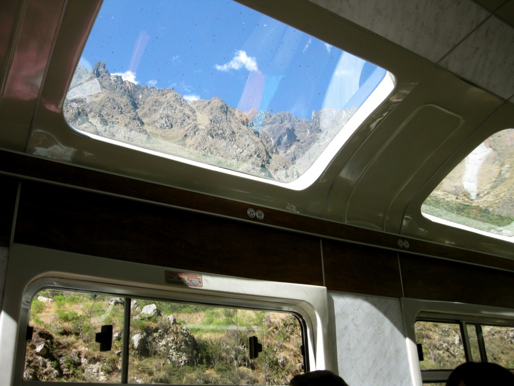 The view from our train as we left Machu Picchu Town