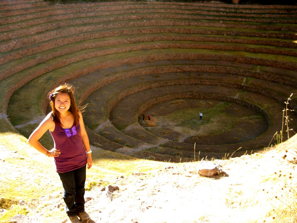 Here I am at Moray, the Incas' research field.